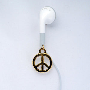 Gold Peace Apple Earphones
