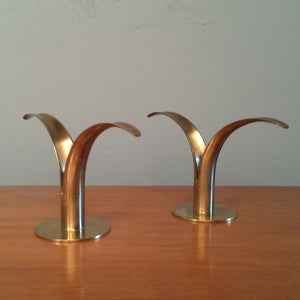 Brass Candlesticks Pair