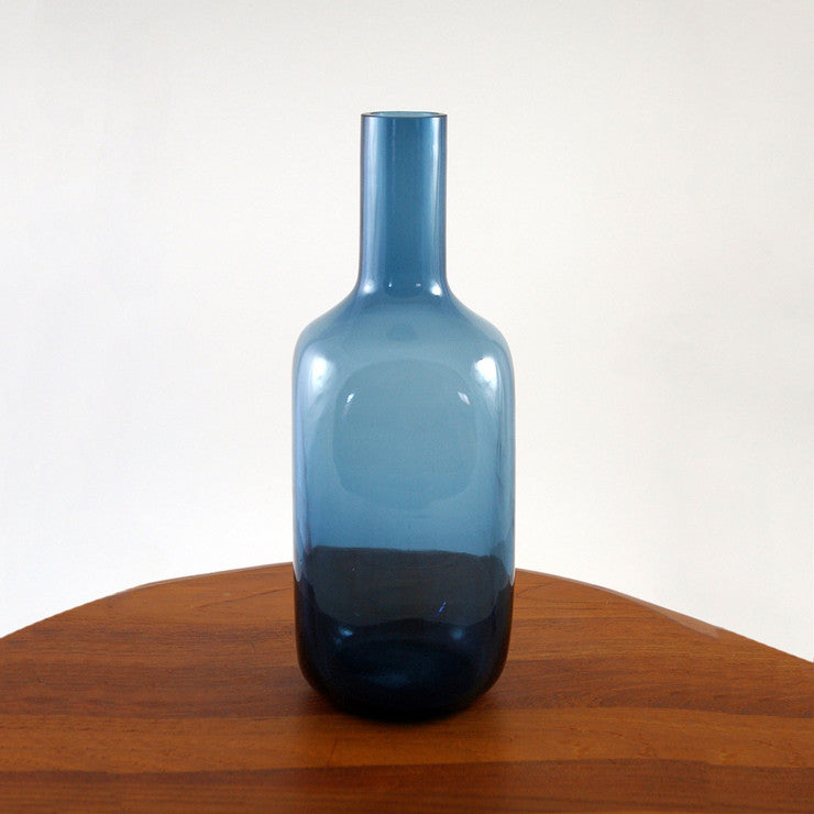 Blue Scandinavian Art Glass Vase