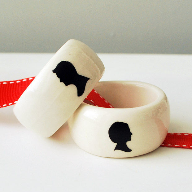 His + Hers Napkin Rings 2 Pack