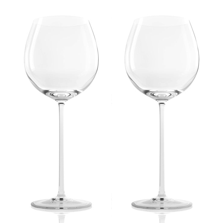 Krystal Burgundy Glass 2 Pack