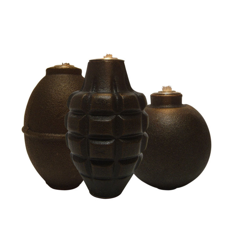 Grenade Lamps Natural Set Of 3