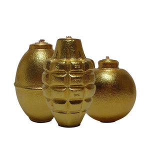 Grenade Lamps Gold Set Of 3