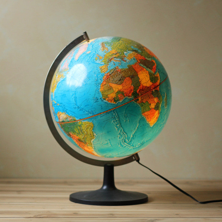 Lighted Globe 12 Inch