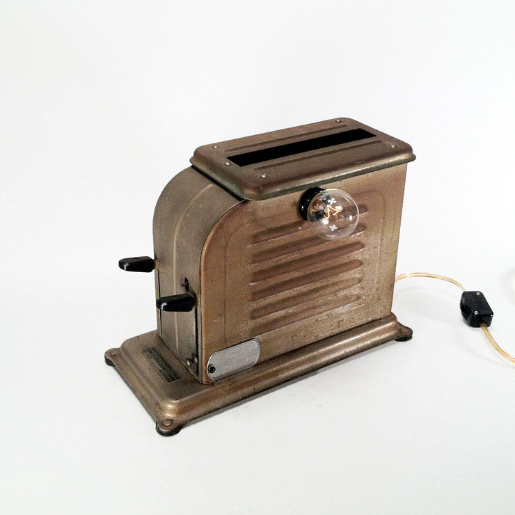Bronze Finish Toaster Lamp