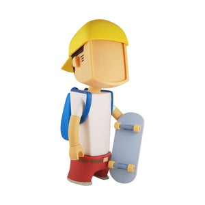 BEit Dude Skateboarder Ylw Red