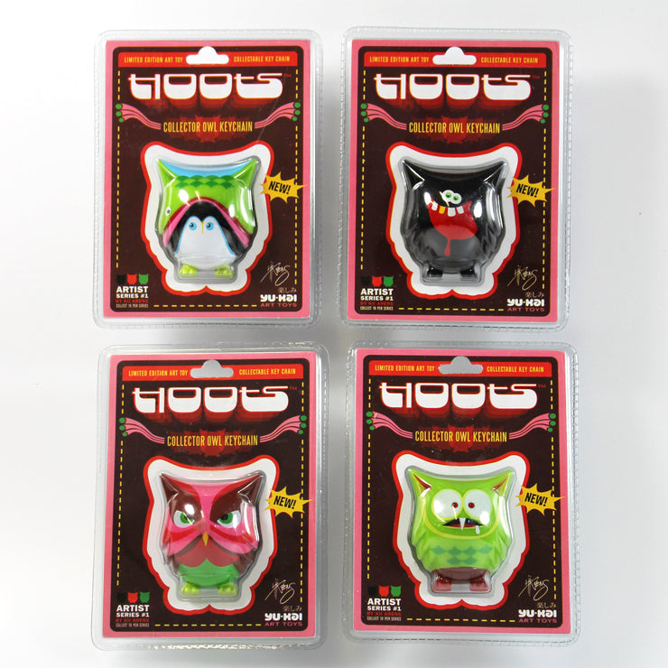 Hoot Keychain Set of 4