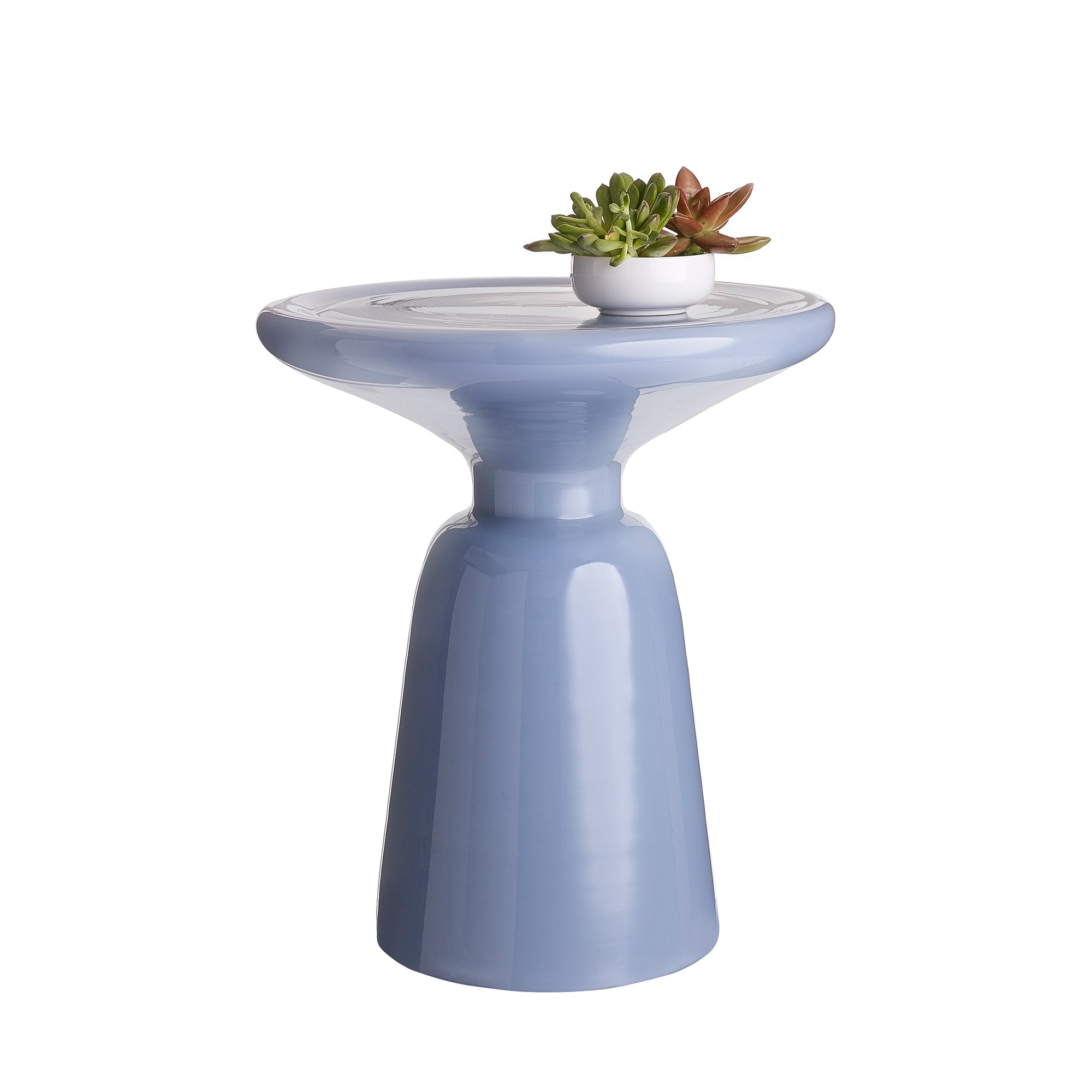 Venezia Side Table in blue and white