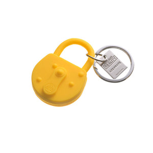 Lock Keychain Yellow