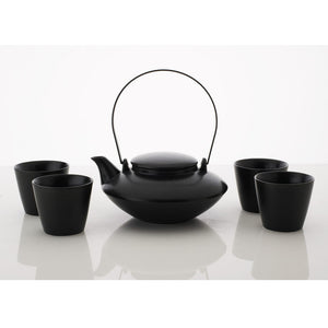 Japanese Tea Set Black