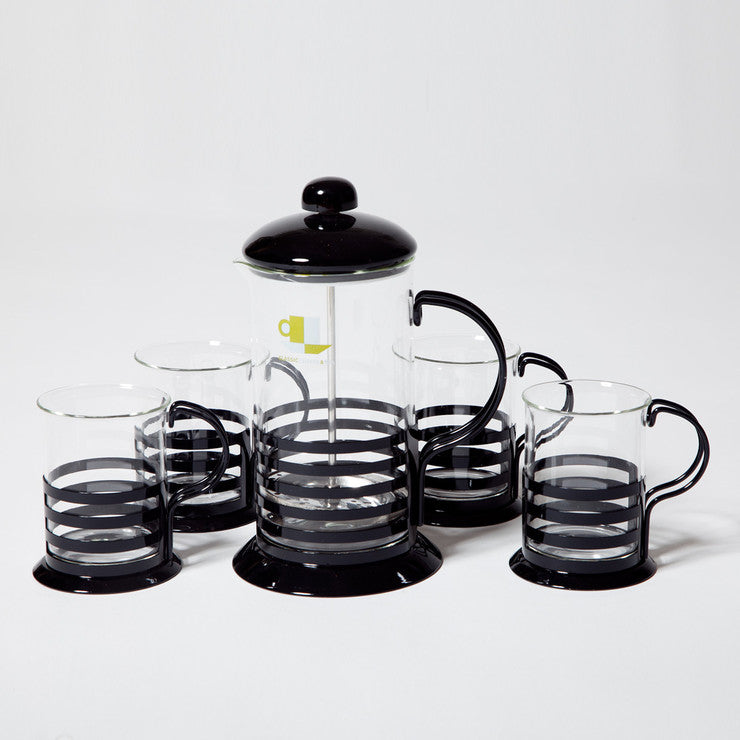 Coffee & Tea Press Set Black