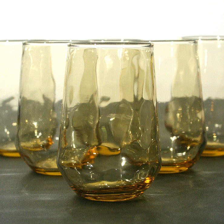 Thumbprint Glasses Set Of 6