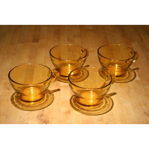 Amber COffee Cups Set Of 4
