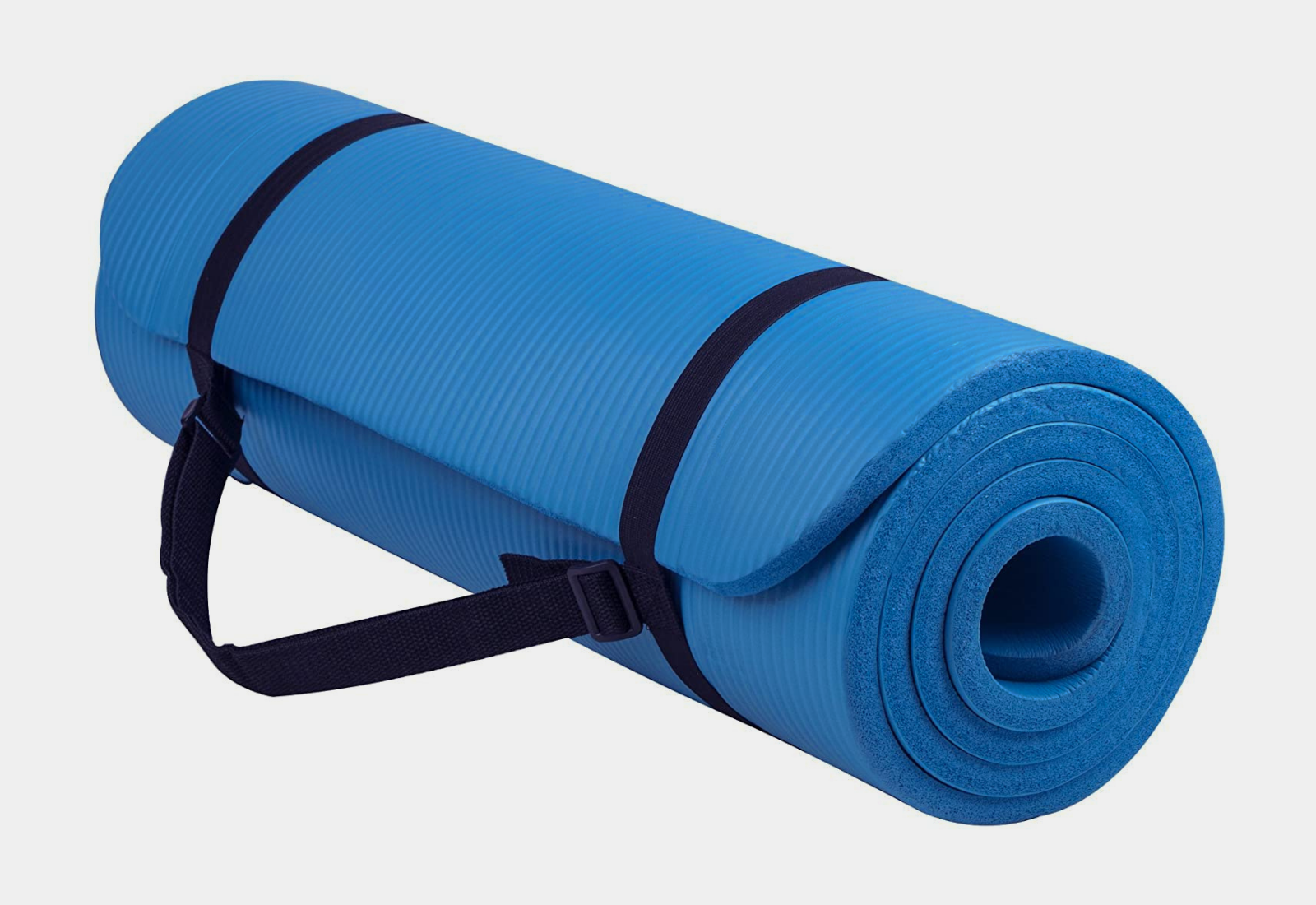 Thick Yoga and Pilates Exercise Mat with Carrying Strap