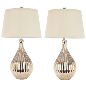 Elli Silver Base Lamp Pair