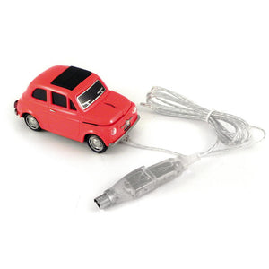 Fiat 500 USB Mouse Red