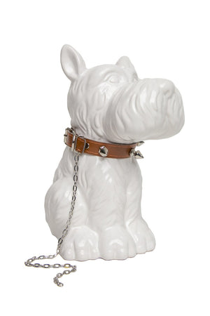 "Interior Illusions Plus Scottie Dog with Studded Collar Bank - 8.5"" tall"