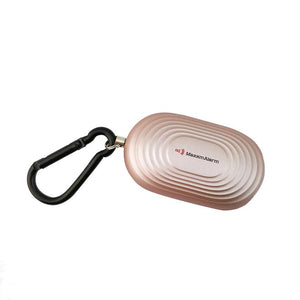 Portable Personal Security Alarm Panic Button + LED Light - Matte Rose Gold