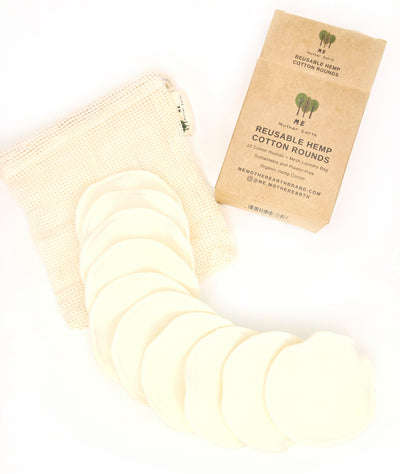 Face Cleaning - Reusable Hemp Cotton Rounds