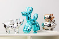 "Interior Illusions Plus Graphite Balloon Dog - 12"" tall"