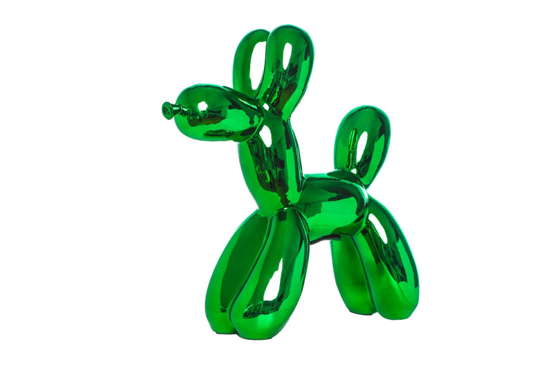 "Kelly Green Mini Balloon Dog Bank 7.5"" tall"