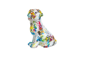 "Interior Illusions Plus Paint Splash Pug Bank - 10"" tall"