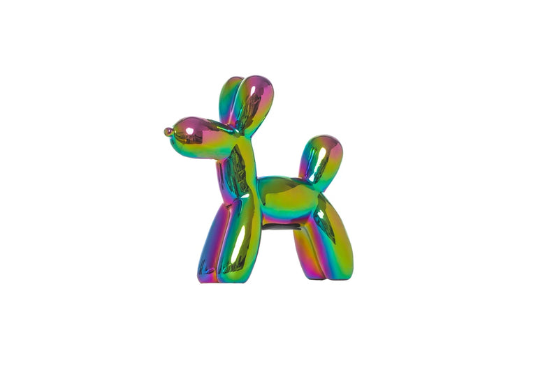 "Iridescent Balloon Dog Bank - 7.5"" tall"