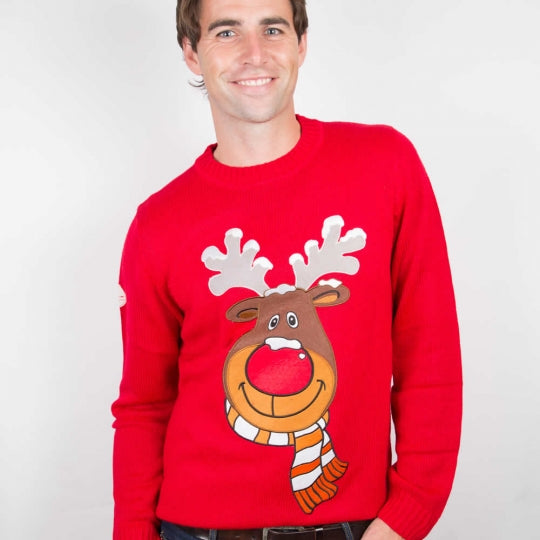 Red Rudolph Christmas Sweater
