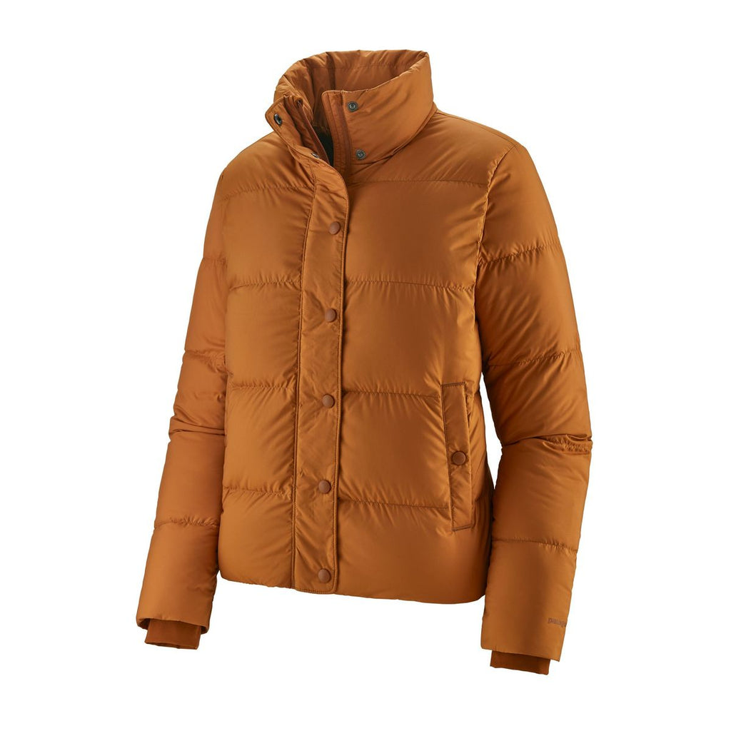 W's Silent Down Jacket - Wood Brown