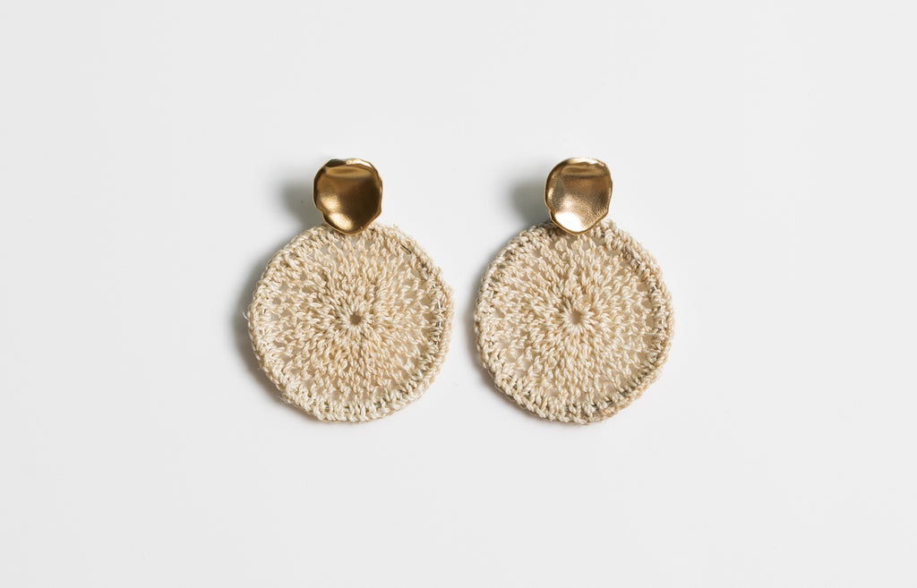 Sowana Basket Earrings - Gold