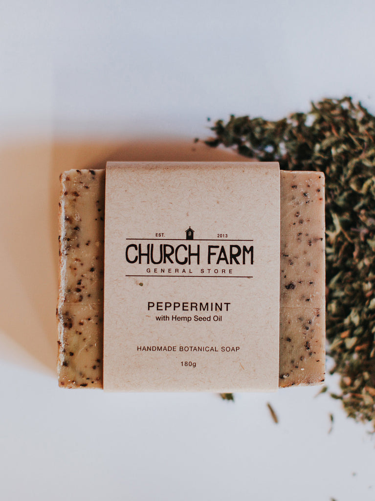 Peppermint with Hemp Seed Oil Soap