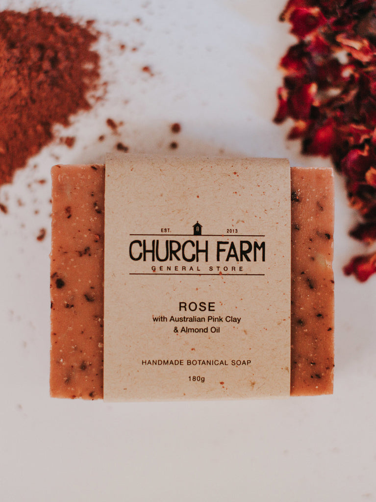 Rose with Australian Pink Clay & Almond Oil Soap