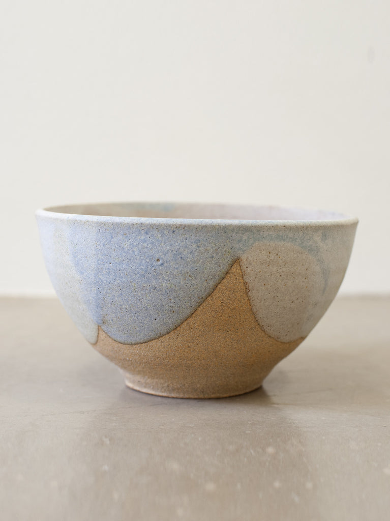 Medium Bowl - Sandy Clay & Pastel Glaze
