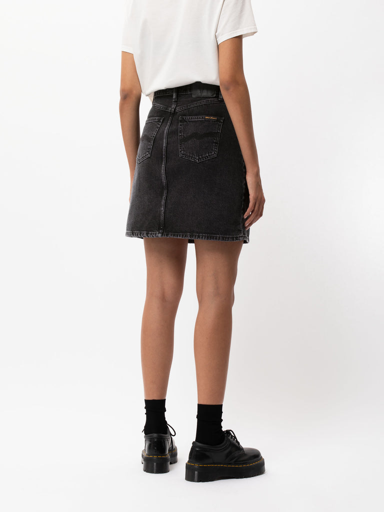 Hanna Skirt Black Trace - Denim