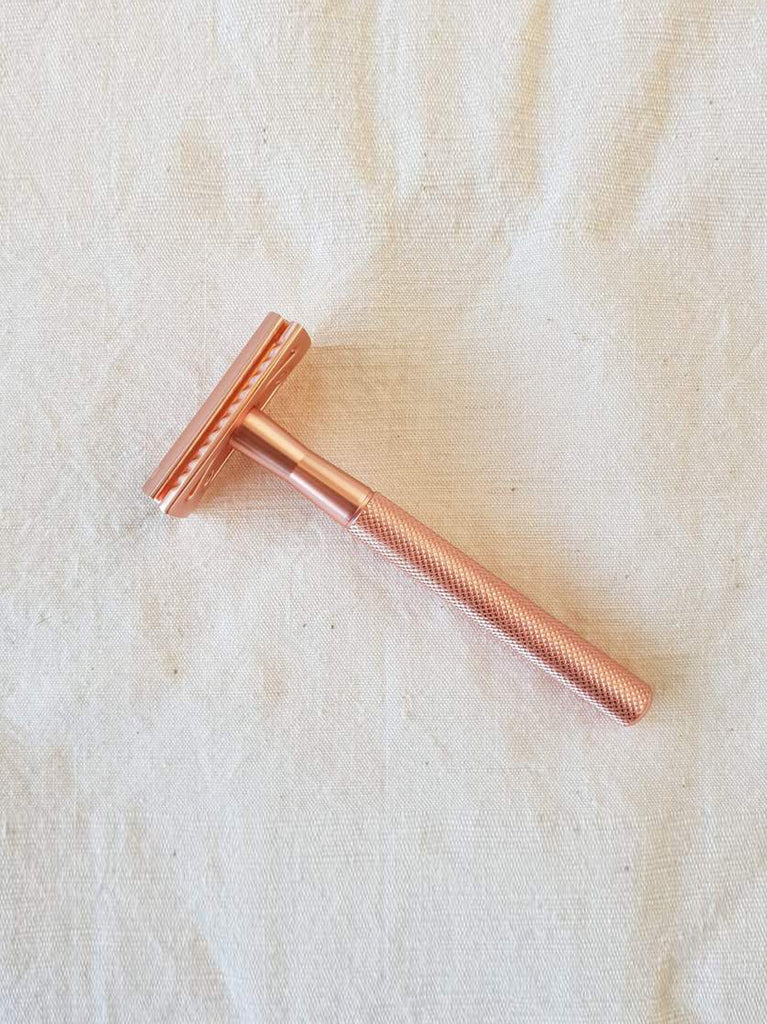 Reusable Safety Razor - Rose Gold