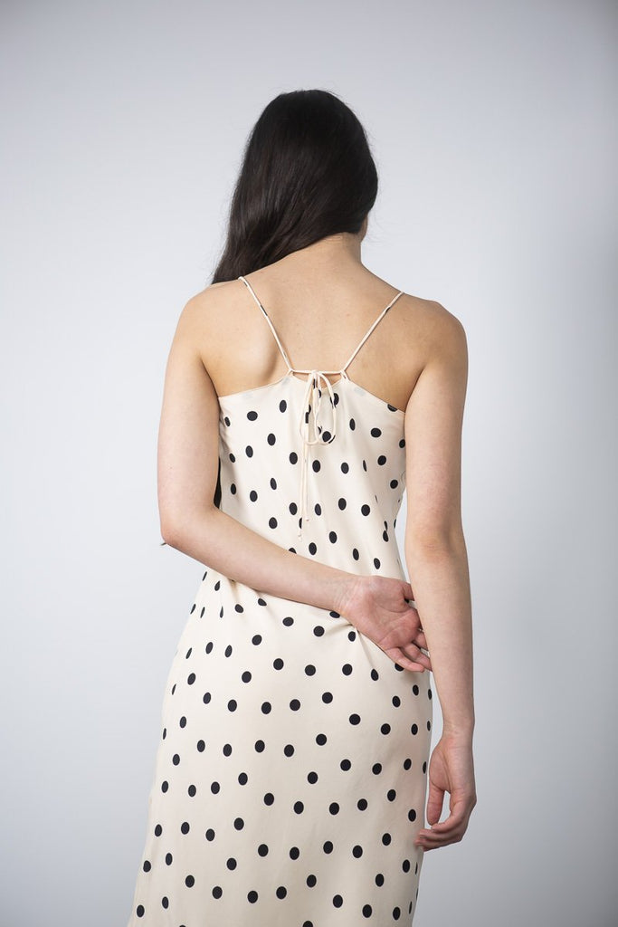 Bias Slip Dress - Dots