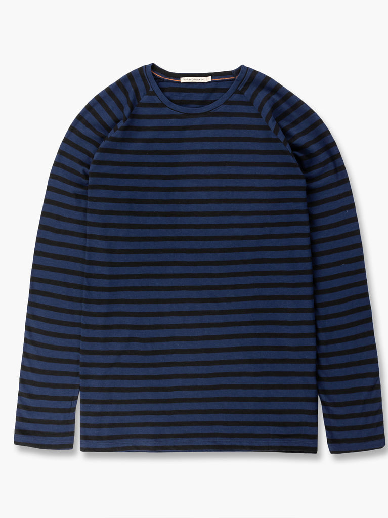Otto Breton Stripe Top - Blueberry