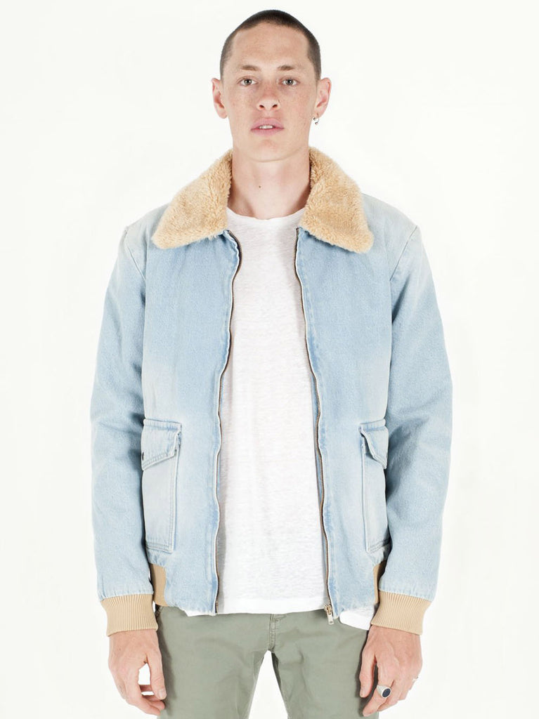Lined Denim Bomber