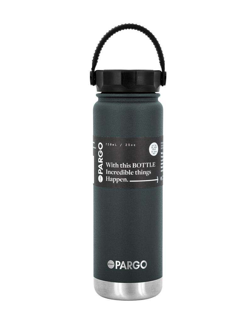 750mL Insulated Water Bottle - BBQ Charcoal