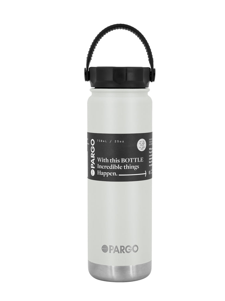 750mL Insulated Water Bottle - BONE White