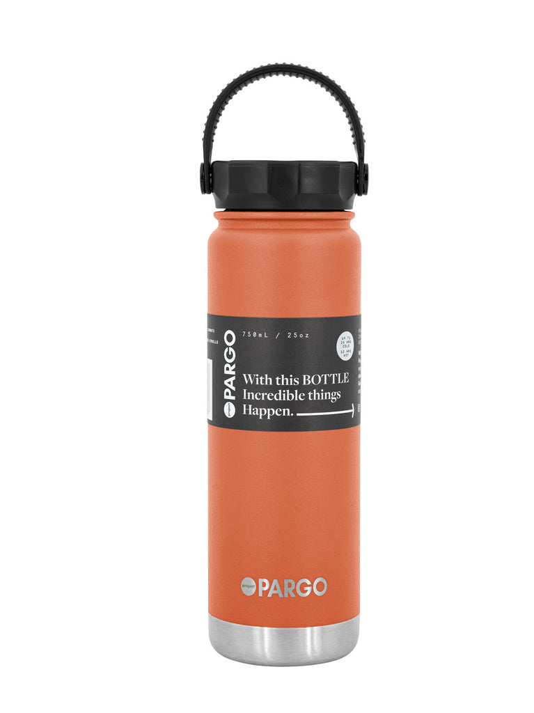 750mL Insulated Water Bottle - OUTBACK Red
