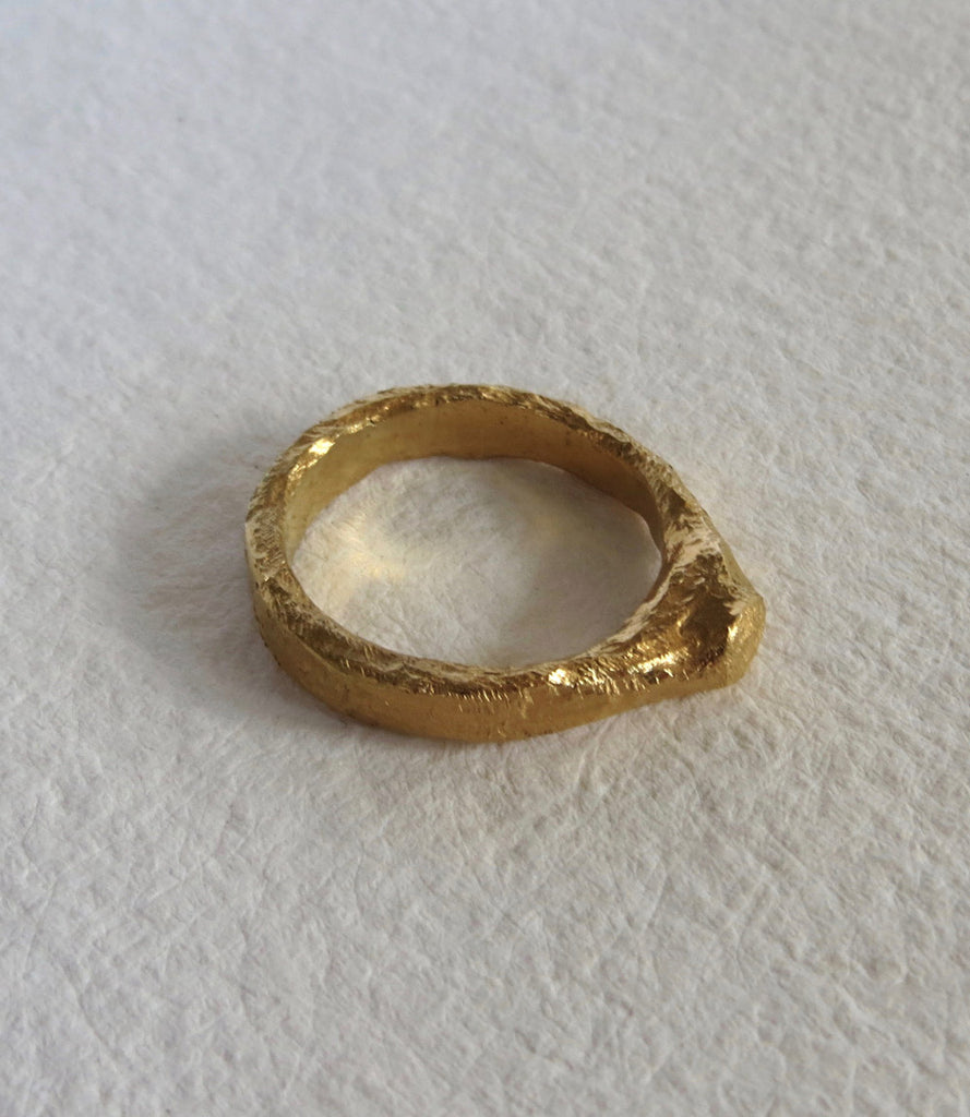 Ruins 02 Ring - Gold Vermeil - Small (K)