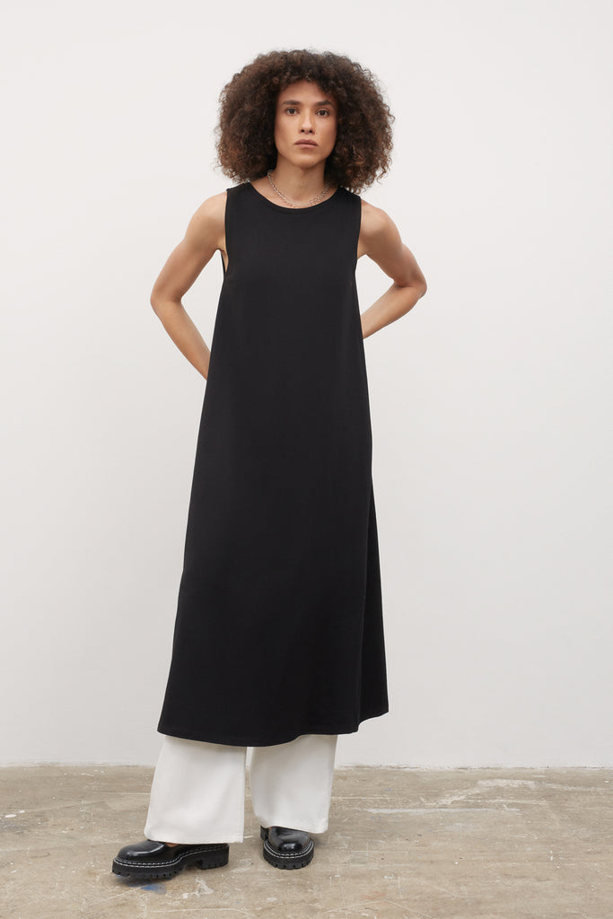 Tank Swing Dress - Black