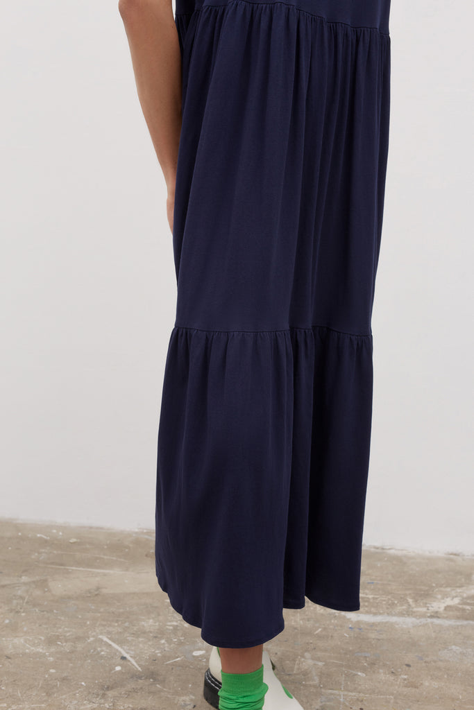 Tier Dress - Navy