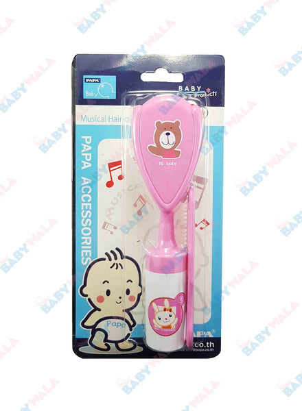 Baby Musical Hair Brush with Comb Pink