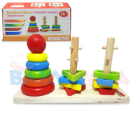 Educational Wooden Toy 3-Column Tower