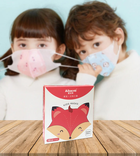 Kid's Protective 3D Mask (10 pcs) - Pink