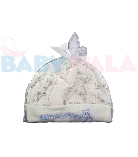 Baby Cap Set Blue 0M+