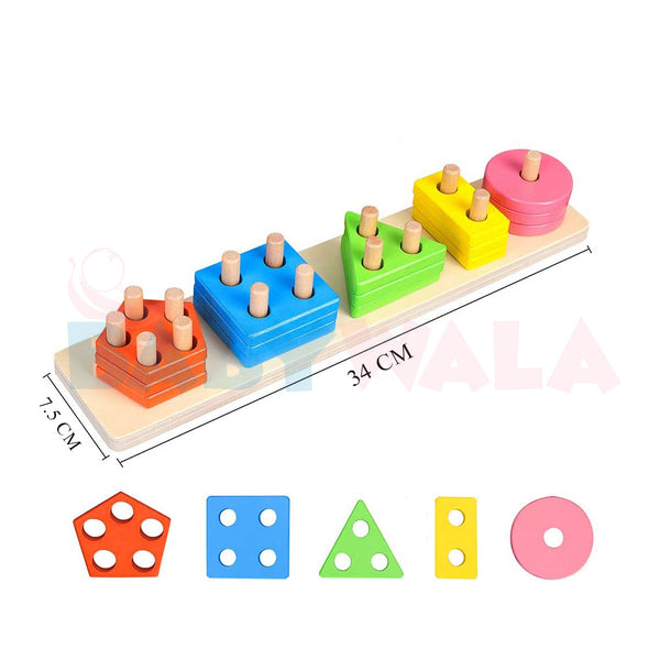 Educational Wooden Toy Geometry Shapes