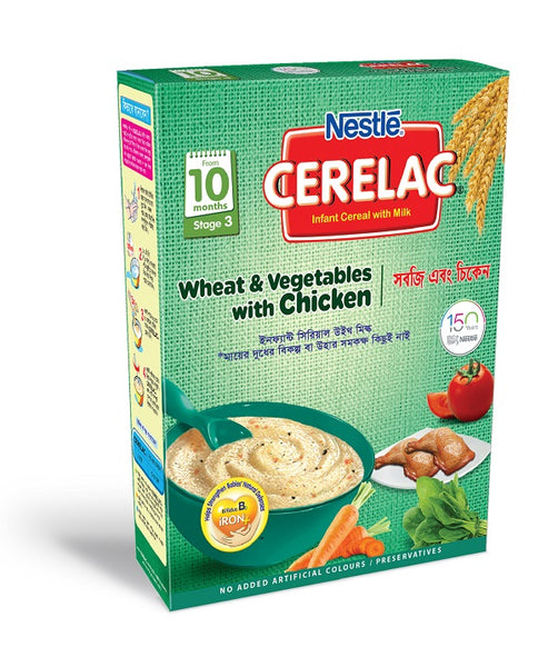 Nestlé Cerelac Wheat & Vegetable with Chicken 10M+